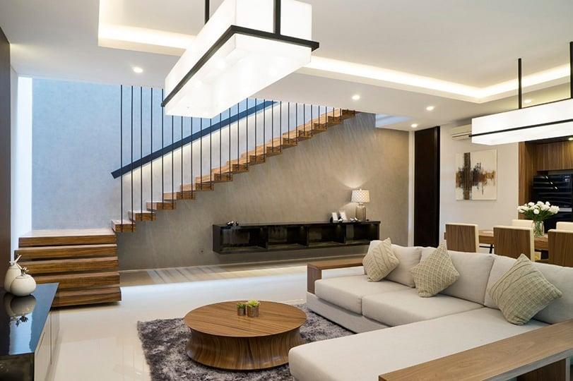 Interior Ruangan Bertingkat Karakter Model Rumah Minimalis Modern